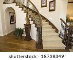 mansion hallway with modern... | Shutterstock . vector #18738349