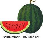 summer fruits for healthy... | Shutterstock .eps vector #1873866121