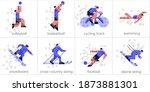 vector illustration. set of... | Shutterstock .eps vector #1873881301