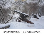 Cannons In Winter In The Parks...