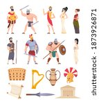 rome elements. cultural ancient ... | Shutterstock .eps vector #1873926871