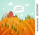 farm fresh. organic food. retro ...   Shutterstock .eps vector #187393487