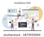 cms instalation. content... | Shutterstock .eps vector #1873935004