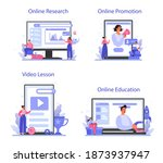 trend watcher online service or ... | Shutterstock .eps vector #1873937947