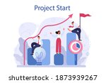 project start concept. start up ... | Shutterstock .eps vector #1873939267