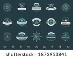 seafood logos or signs set... | Shutterstock .eps vector #1873953841