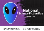 national science fiction day....   Shutterstock .eps vector #1873960087