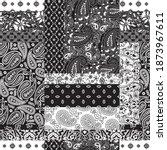 cashmere paisley bandana fabric ... | Shutterstock .eps vector #1873967611