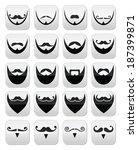 beard with moustache or... | Shutterstock .eps vector #187399871