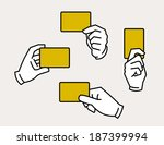 hands holding card | Shutterstock .eps vector #187399994