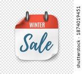 winter sale. calendar template... | Shutterstock .eps vector #1874019451
