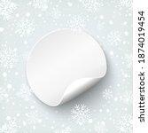 blank round banner template.... | Shutterstock .eps vector #1874019454