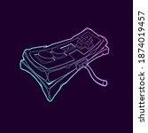 classic retro gamepad icon. old ... | Shutterstock .eps vector #1874019457
