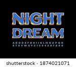 vector chic card night dream....   Shutterstock .eps vector #1874021071