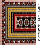 abstract ethnic ikat pattern... | Shutterstock . vector #1874046814