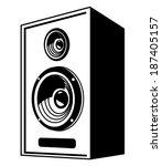 vector black speaker icon on...   Shutterstock .eps vector #187405157