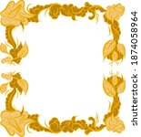 artistic frame made with vector ... | Shutterstock .eps vector #1874058964