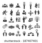 business people icons ... | Shutterstock . vector #187407401