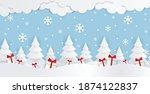 winter background vector... | Shutterstock .eps vector #1874122837