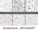 collection of vector seamless...   Shutterstock .eps vector #1874136097