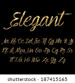 gold font | Shutterstock .eps vector #187415165