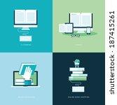 set of flat design concept... | Shutterstock .eps vector #187415261