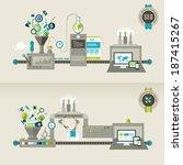 set of flat design concepts for ... | Shutterstock .eps vector #187415267