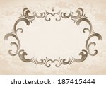 frame with crown | Shutterstock .eps vector #187415444
