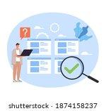 man office worker thinking... | Shutterstock .eps vector #1874158237