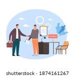 boss and employee worker...   Shutterstock .eps vector #1874161267