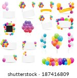 color glossy balloons card mega ... | Shutterstock .eps vector #187416809