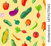 A Pattern Of Juicy Vegetables...