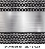 metal background  | Shutterstock .eps vector #187417685