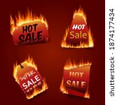 vector fire labels set. price... | Shutterstock .eps vector #1874177434