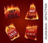 vector fire labels set. price...   Shutterstock .eps vector #1874177434