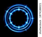 abstract glowing circle with a... | Shutterstock .eps vector #1874188021