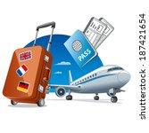 air travel | Shutterstock .eps vector #187421654