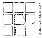 set of hand drawn sketched... | Shutterstock .eps vector #1874219617