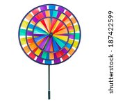 colorful pinwheel toy isolated...   Shutterstock . vector #187422599