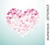 pink hart   Shutterstock . vector #187424615
