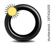 summer tire | Shutterstock .eps vector #187426205