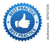 best practice label icon... | Shutterstock .eps vector #187427234