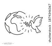Dove Peace In The World Icon ...