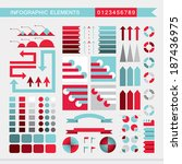 set of infographic elements ... | Shutterstock .eps vector #187436975