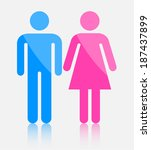 male and female sign | Shutterstock .eps vector #187437899