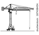 tower crane | Shutterstock .eps vector #187438454