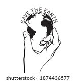 save the earth icon and emblem. ... | Shutterstock .eps vector #1874436577