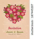 beautiful vector greeting card... | Shutterstock .eps vector #187445207
