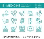 set of line icons of online...   Shutterstock .eps vector #1874461447