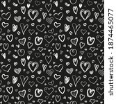 hand drawn background with... | Shutterstock . vector #1874465077